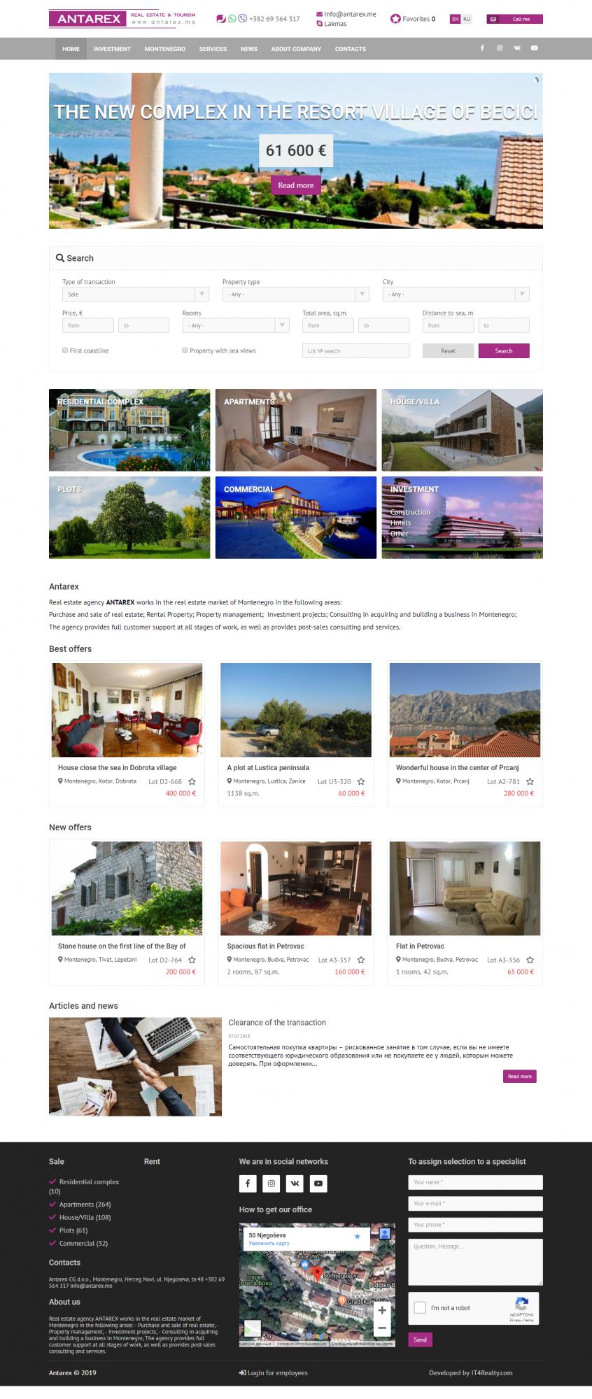 Агентства недвижимости черногории flydubai отзывы из москвы в дубай